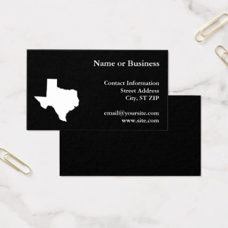 Texas in White and Black Business Card