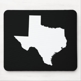 Texas in White and Black Mouse Mat