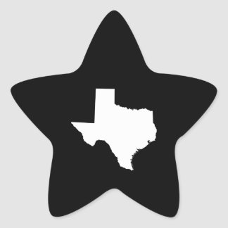 Texas in White and Black Star Sticker