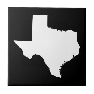 Texas in White and Black Tile