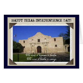 Texas Independence Day-The Alamo with Quote Greeting Cards