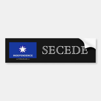 Texas Independence - SECEDE Bumper Sticker