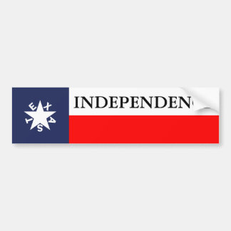 Texas Independence Zavala Bumper Bumper Sticker