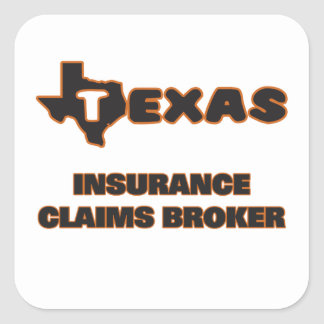 Texas Insurance Claims Broker Square Sticker