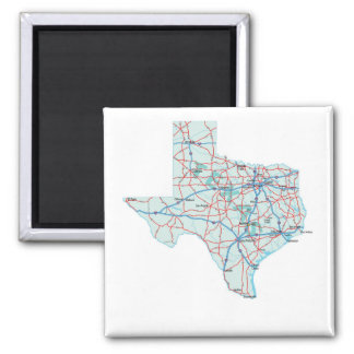 Texas Interstate Map Magnet