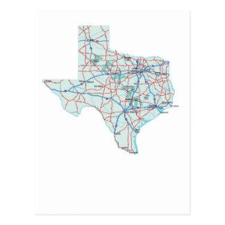 Texas Interstate Map Postcard