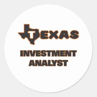Texas Investment Analyst Round Sticker