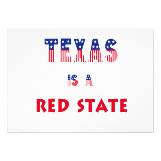 Texas is a Red State Custom Invitations
