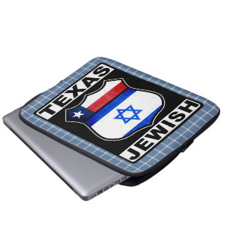 Texas Jewish American Laptop Cover Laptop Sleeves