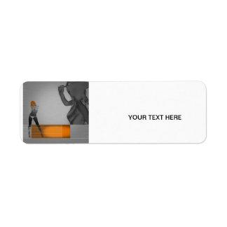 Texas Return Address Label