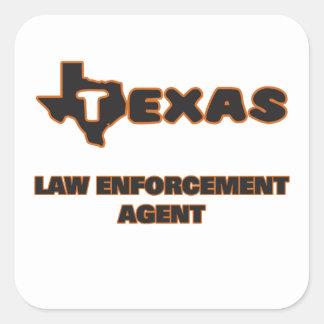 Texas Law Enforcement Agent Square Sticker