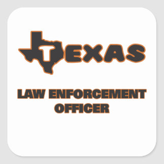 Texas Law Enforcement Officer Square Sticker