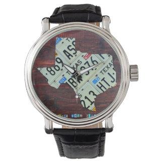 Texas License Plate Map Wrist Watch