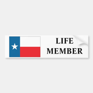 "Texas ""Life Member"" Bumper Sticker"