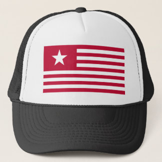 Texas Lone Star and Stripes - Red Trucker Hat