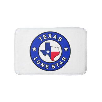 Texas Lone Star Bath Mats