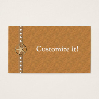Texas Lone Star Custom Business Cards