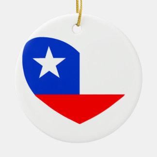 Texas Lone Star Round Ceramic Decoration