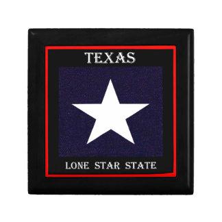 Texas Lone Star Small Square Gift Box