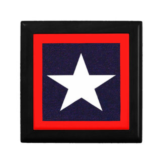 Texas Lone Star Small Square Gift Box