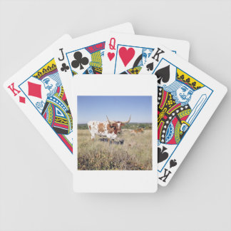 Texas Longhorn Breed (photo) Bicycle Playing Cards
