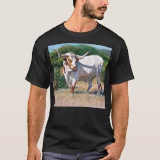 Texas Longhorn Bull Western Art Painting T-Shirt