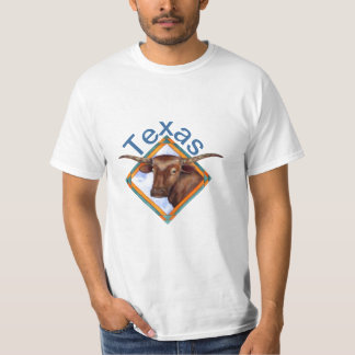 Texas Longhorn Cattle Cow Bull Design T-Shirt