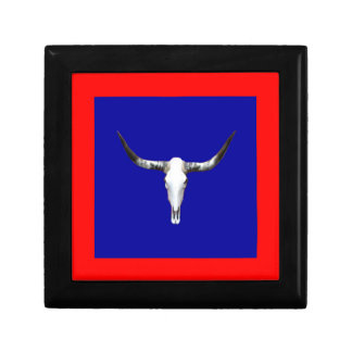Texas Longhorn Z.jpg Small Square Gift Box