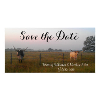 Texas Longhorns Save the Date card