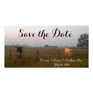 Texas Longhorns Save the Date card Photo Card