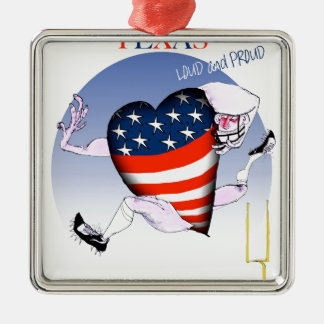 texas loud and proud, tony fernandes Silver-Colored square decoration