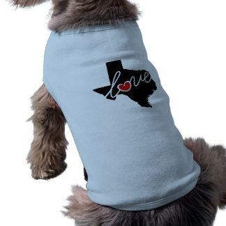 Texas Love!  Gifts for TX Lovers Dog Tshirt