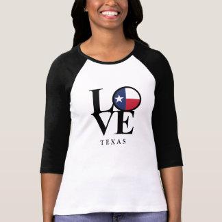 Texas LOVE Ladies Baseball Style Tee