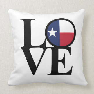 "Texas LOVE Throw Pillow 20""x20"""