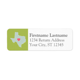 Texas Love with Custom Heart and Family Name