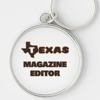 Texas Magazine Editor Silver-Colored Round Key Ring