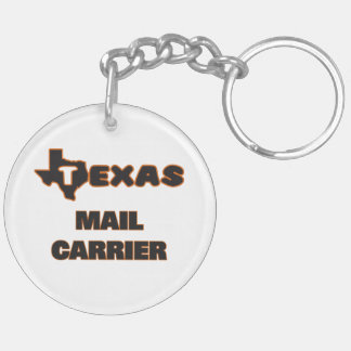 Texas Mail Carrier Double-Sided Round Acrylic Key Ring