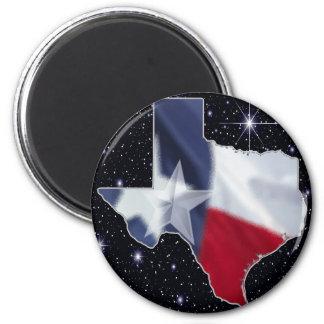 Texas Map 6 Cm Round Magnet