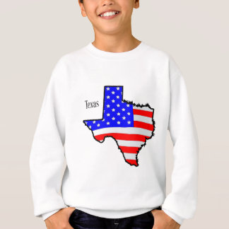 Texas Map and Flag Sweatshirt