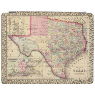 Texas Map by Mitchell iPad Cover