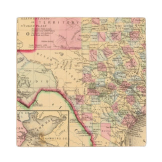 Texas Map by Mitchell Wood Coaster