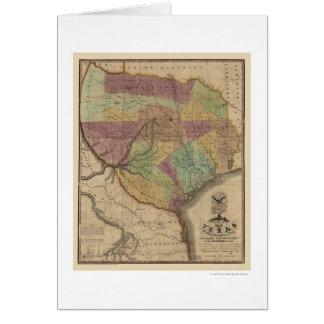 Texas Map By Stephen Austin 1837 Card