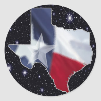 Texas Map Classic Round Sticker