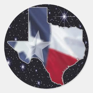 Texas Map Classic Round Sticker