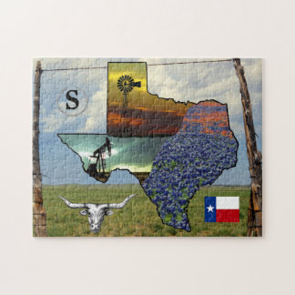 Texas - map, colourful photos 11x14 size jigsaw puzzle