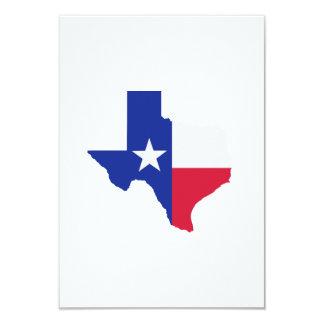 Texas map flag 3.5x5 paper invitation card