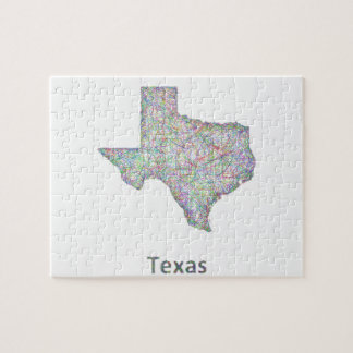 Texas map jigsaw puzzle