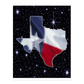 Texas Map Postcard