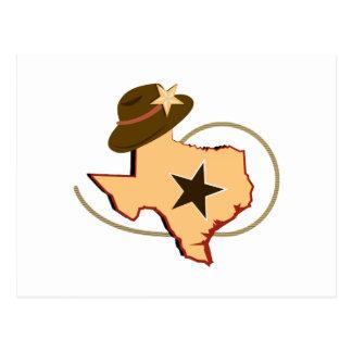 Texas Map Postcard
