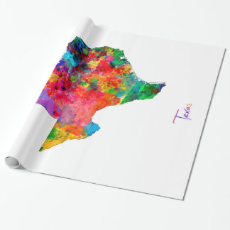 Texas Map Wrapping Paper